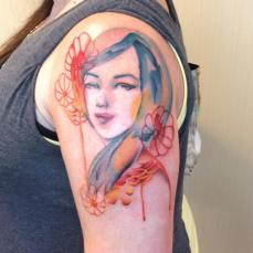 Alice Kozwara Water color painting Tattoo