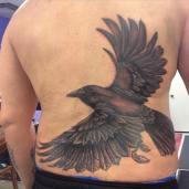 raven back piece in progress